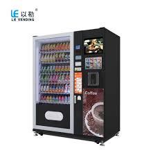 Vending Machine Manufacturing Companies Interesting China Advertisement Snack Cold Coffee Combo Vending Machine LVX48