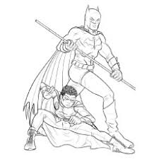 batman and robin at the time of age coloring sheet