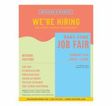 Design Job Fair Job Fair Flyer Design Orange Transparent Png Download