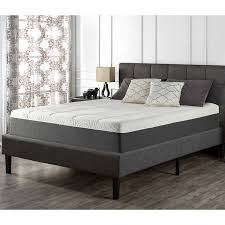 "Blackstone Set 12"" Memory Foam Queen Mattress and Platform Bed"