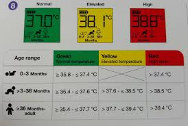 Ear Thermometer Fever Chart Childrens Temperature Chart Uk Metric Units Poster By