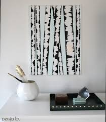 DIY Birch Tree Art - Make your own wall art with this SUPER easy step-