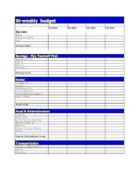 Biweekly Budget Template Free Semi Monthly Budget Template Printable Templates Bi Weekly