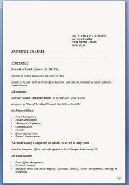 Model Cv Format Sample Template Example Of Excellentcv