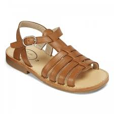 tan leather sandals for girls