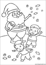 Disegni Di Natale Babbo Natale Con Bambini