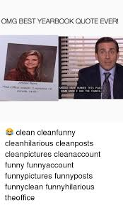 Funny Office Quotes Cool OMG BEST YEARBOOK QUOTE EVER The Office Season 48 Episode 48 SHOULD