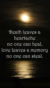 Grieving Quotes For Loved Ones Impressive QUOTE Grief 'Death Leaves A Heartache No One Can Heal Love Leaves
