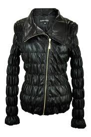 frank lyman vegan leather jacket front cropped image