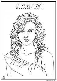 Taylor Swift Coloring Pages For Printable Taylor
