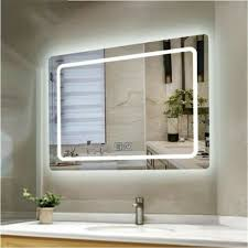 Wall Mirror With Lights Details About Bathroom Mirror Anti Fog Switch Wall Makeup Mirrors With Led Light Over Vanity