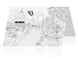 Uitnodiging 125 Jaar Getrouwd Kleurplaat Kaart Tuin
