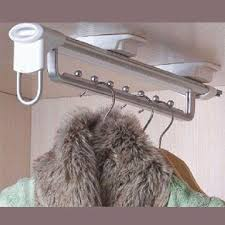 Pull Out Coat Rack Wardrobe Top Pull Out Clothes Rack With Slide DrawerModel NumberF100 5