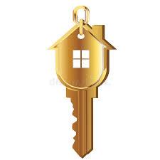 House key gold logo stock vector Illustration of gold 23596310