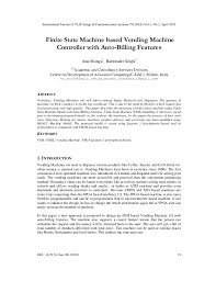 Paper Vending Machine Thesis Best Finite State Machine Based Vending Machine IEEE Paper