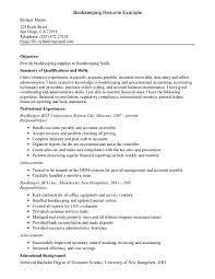 Bookkeeper Resume Sample Monster Com Inside Perfect Resume