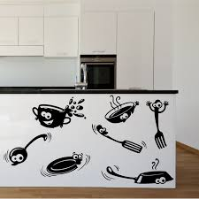 Wall Art For Kitchen Kitchen Cupboard Cartoon Stickers Vinyl Wall Art Decal Transfer