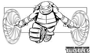 Mike Ninja Turtle Free Superhero Coloring Pages Super Heroes