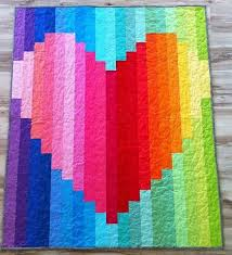 Rainbow Heart strip quilt by 5bentneedles this would go good in a ... & Rainbow Heart strip quilt by 5bentneedles this would go good in a kids room. Adamdwight.com