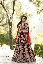 Lehenga Design In Nepal Nepali Bride In Her Bridal Lehenga Bridal Lehenga Bride