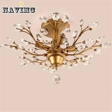 vintage american style gold black crystal chandeliers lighting fixtures for bedroom living room foyer multi pendant lighting brass pendant lights from