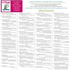 silent auction program template 27 images of auction event program template infovia net