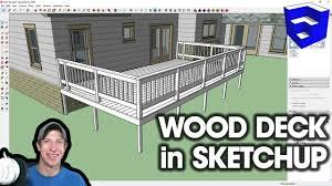 Pro Deck Design Modeling A Wood Deck In Sketchup