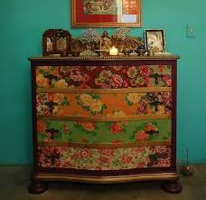 decoupage furniture ideas. dishfunctional designs upcycled dressers painted wallpapered u0026 decoupaged decoupage furniture ideas e