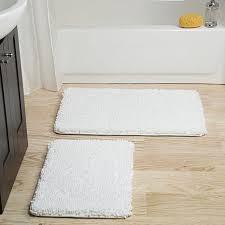 lavish home memory foam 2 piece bath mat set