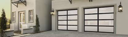 Delighful Modern Glass Garage Doors Aluminum 8850 Anodized Bronze With Satin Etched For Simple Ideas