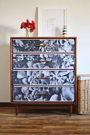 floral decoupage furniture. How To Decoupage Furniture (via Abeautifulmess.com) Floral I