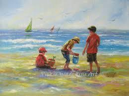 three beach boys original oil painting 12x16 canvas wall art three brothers beach paintings beach house