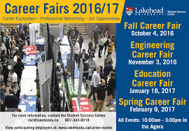 career fairs lakehead university career fairs 2016 17