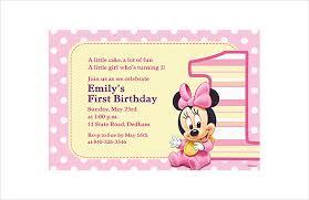 33 Minnie Mouse Birthday Invitation Templates Psd Word Ai