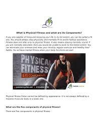 Physical Fitness Powerpoint Presentations Www Tollebild Com