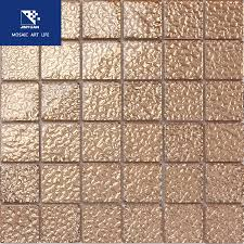 hw12 48 copper gold glass tile for spa wall
