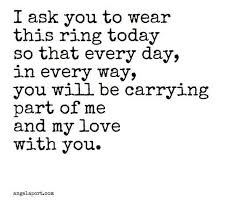 Ring Quotes Mesmerizing Wedding Quotes I Ask You To Wear This Ring Today Love Quotes