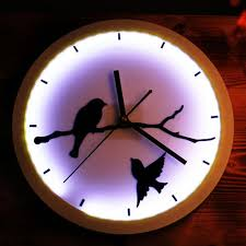 lighted wall clock whole trader