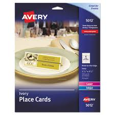 Avery Template 3379 Card Stock