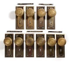 antique brass front door knobs. Vintage Front Door Hardware Sold Antique Brass Arts Crafts Sets With Knobs Plates Two N