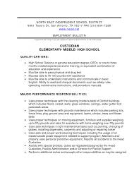 resume description for custodian equations solver custodian resume sles template