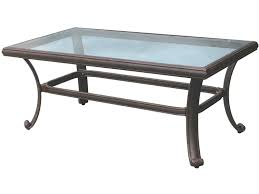 darlee outdoor living glass top cast aluminum antique bronze 42 x 24 rectangular coffee table dl50 b