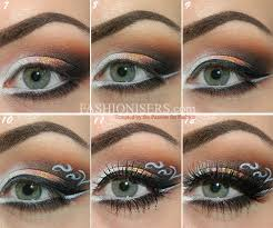 lace patterned eye makeup tutorial step 8 apply black maa