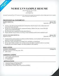 Lvn Resume Samples Resume