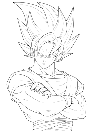 Small Picture kid goku ssj4 colouring pages in Dragon Ball Z Coloring Pages Goku