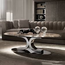 luxury contemporary italian oval marble coffee table