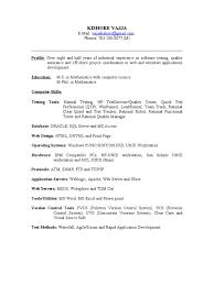 Qa Resume Resume Work Template
