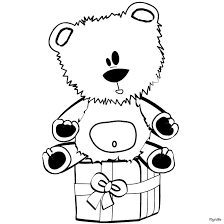 Small Picture Teddy bear on gift box coloring pages Hellokidscom