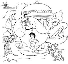 Disegni Da Colorare Per Bambini Genio E Aladdin