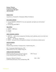 Easy Resume Template And Firefighter Paramedic Resume Example